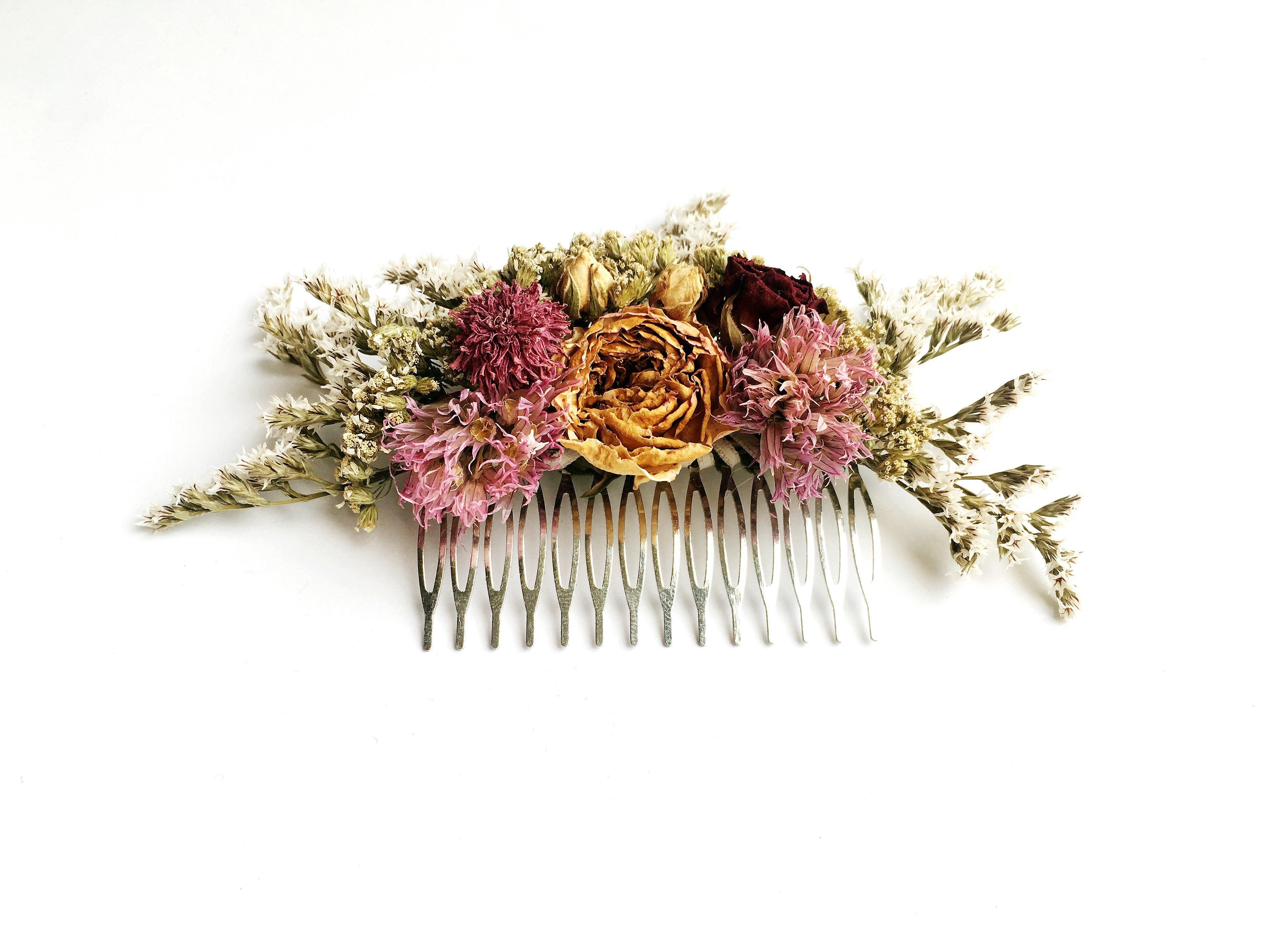 Blumenkamm LEVINLOVE - giuliblum - langhaltende Blumenkränze und Blumenaccessoires