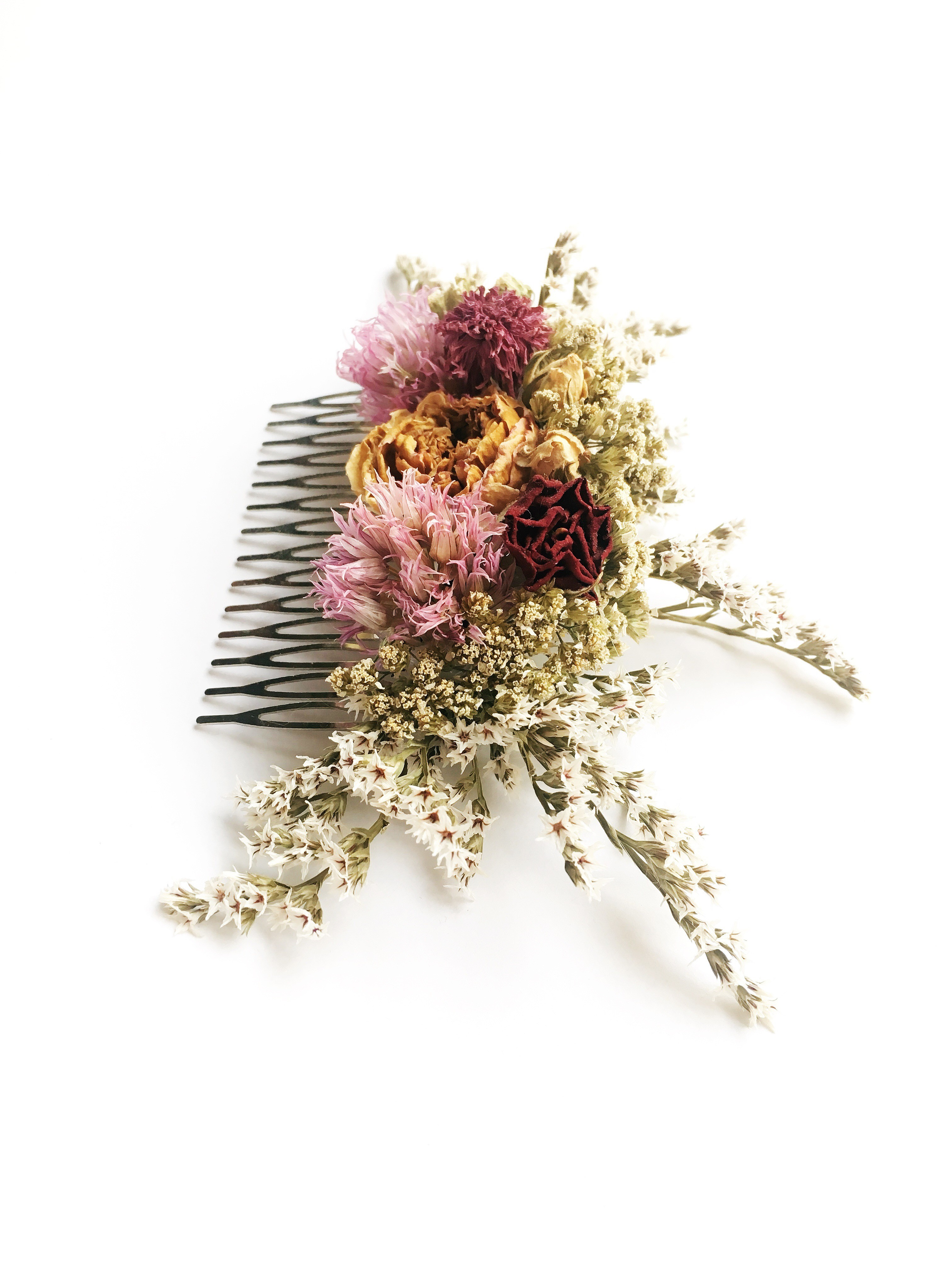 Haarkamm trockenblumen Handarbeit vintage hochzeit boho braut in Niedersachsen - Reppenstedt